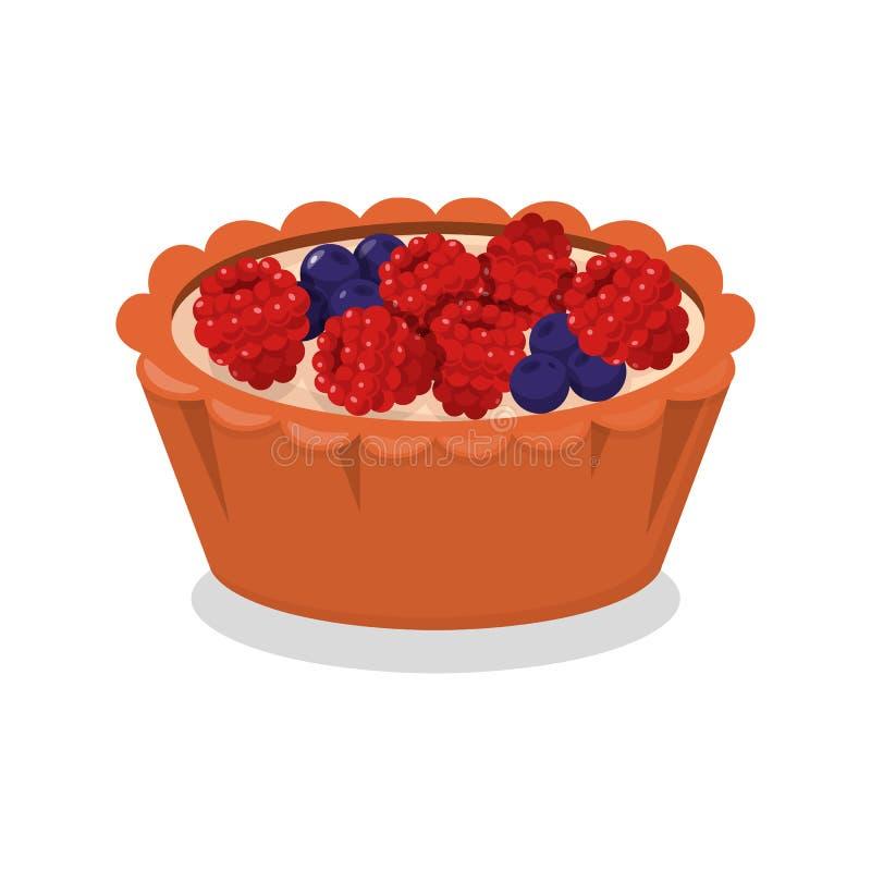 Berry Baking Cartoon Vetora Illustration delicioso ilustração do vetor