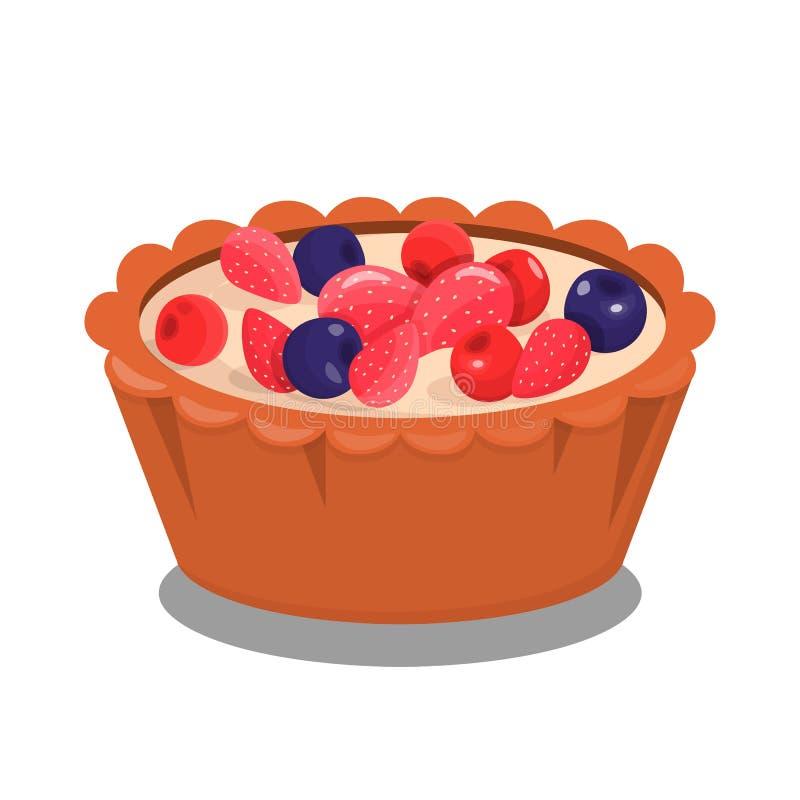 Berry Baking Cartoon Vetora Illustration doce ilustração stock