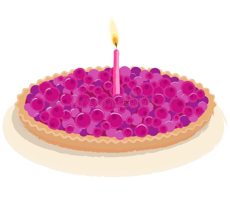 Berry birthday cake vector royalty free stock photography