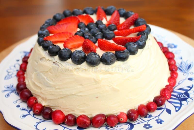Berry cake stock photography