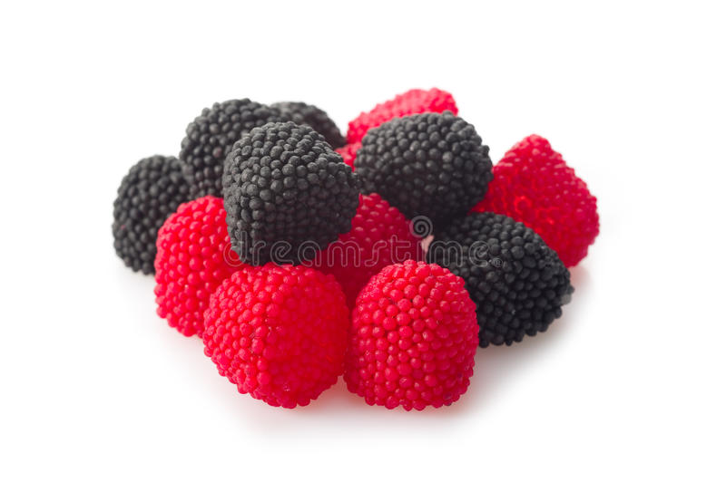 Berry candy. On white background stock image