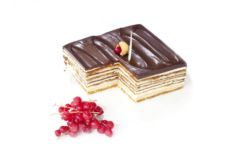 Download Berry and chocolate cake stock photo. Image of brownie - 27251530