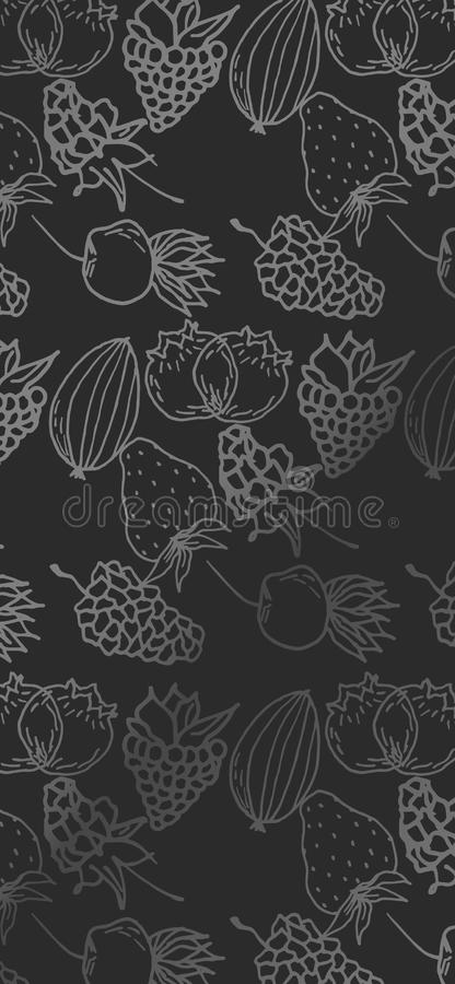Berry color hand drawn vector set. Fruit botany illustration. Berries engraving doodle sketch line.Dessert ingredient.Great for we. B page background, wrapping royalty free illustration
