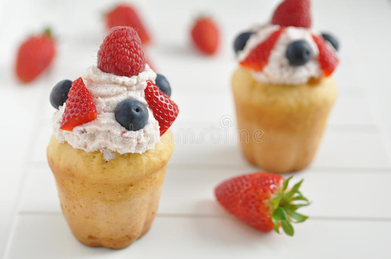 Berry Cupcakes foto de stock royalty free