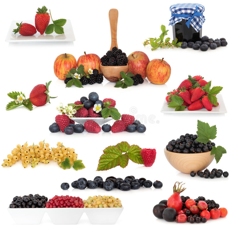 Berry Fruit Collection royalty free stock photo