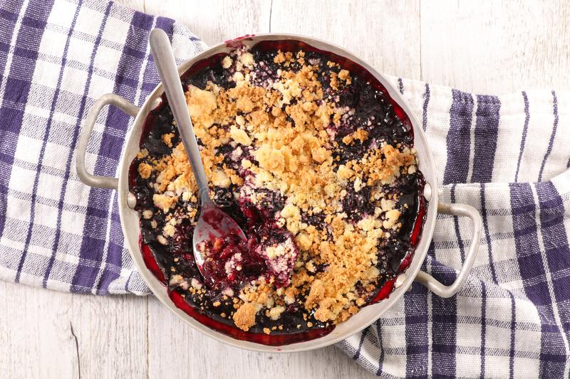 Berry fruit crumble royalty free stock photo