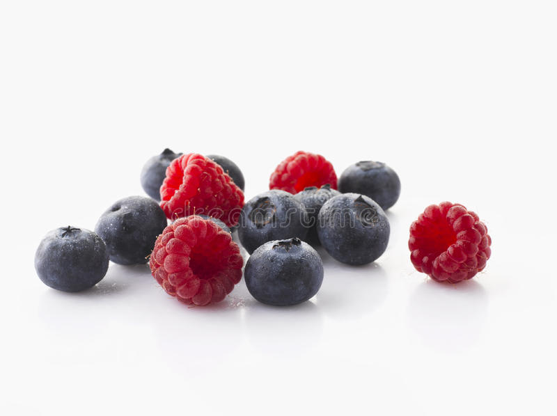 Berry Fruits. Fresh colorful berry (raspberry, bluberry) fruits stock photos