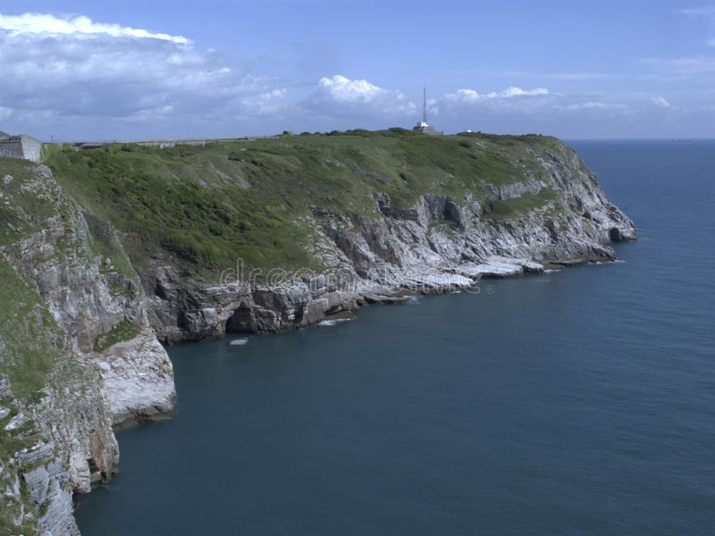 Berry Head. Coast and cliffs, Devon stock photo