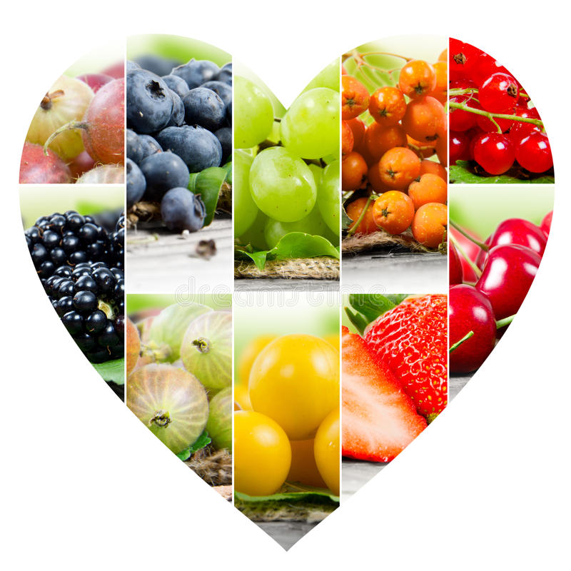 Berry Heart-Scheiben lizenzfreies stockbild