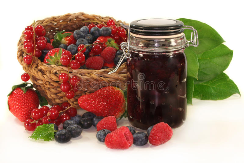 Berry jam royalty free stock image