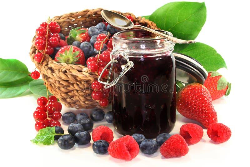 Berry jam stock photo