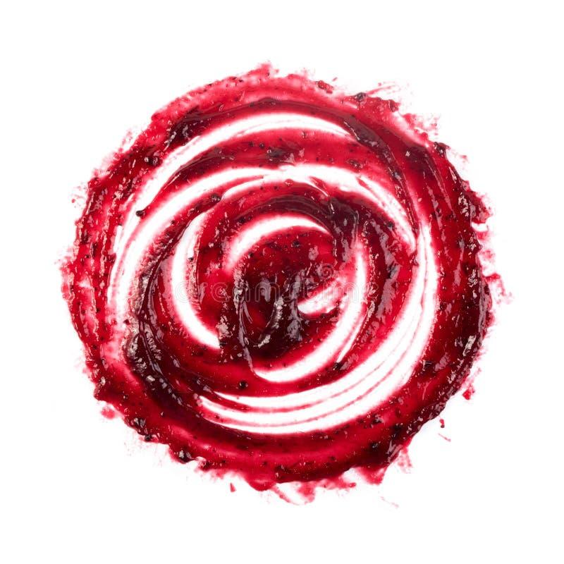 Berry Jam Round Blot Frame ou tache rouge foncé d'isolement photos libres de droits