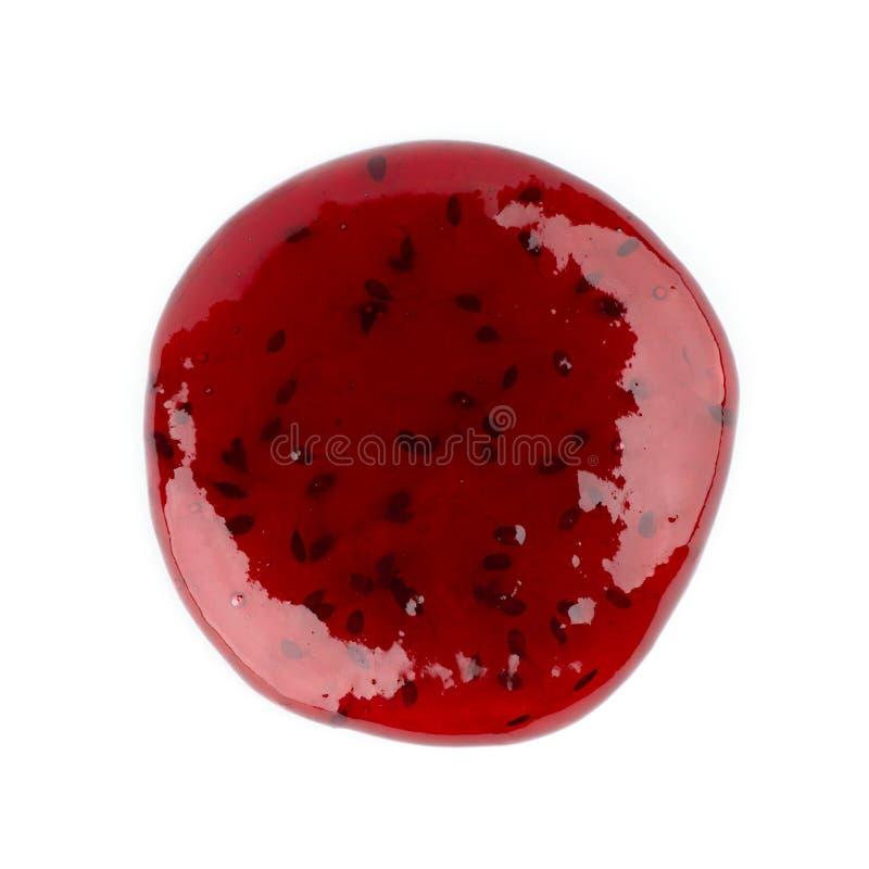 Berry jam on white royalty free stock photos