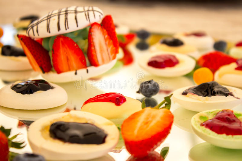 Berry Macaron Desert royalty free stock photos