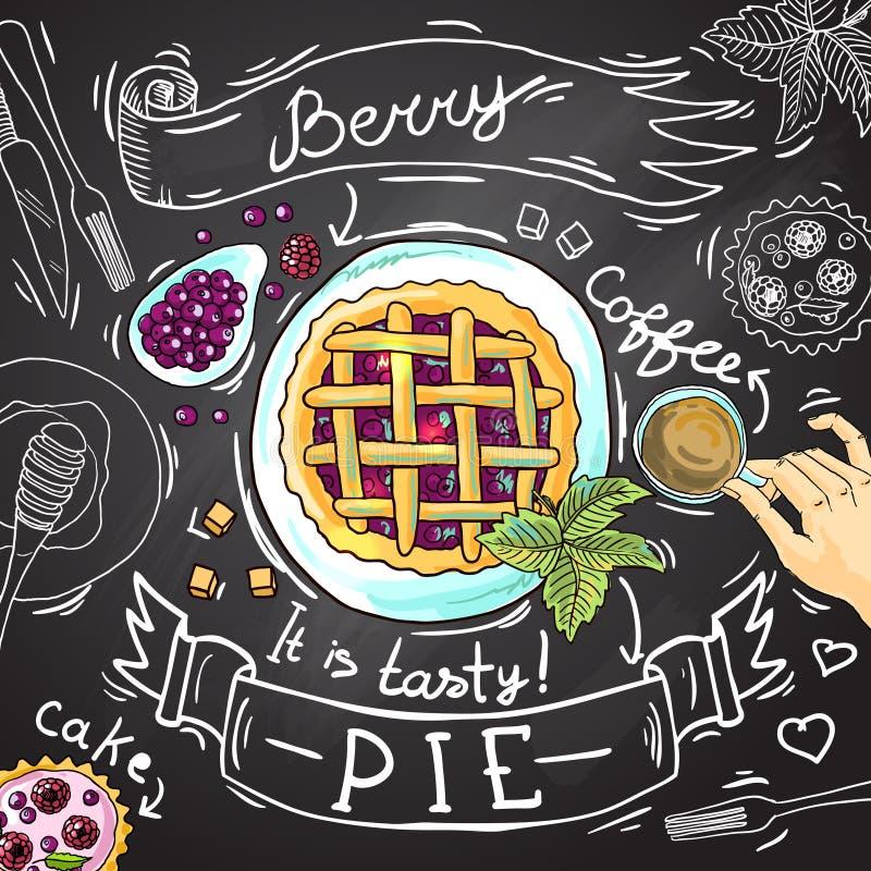 Berry Pie illustration libre de droits
