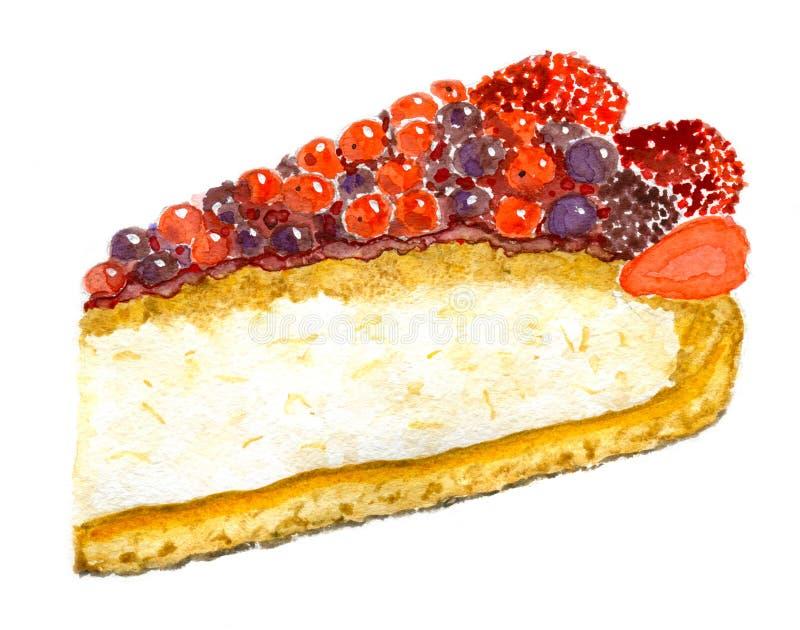 Berry Pie royaltyfri illustrationer