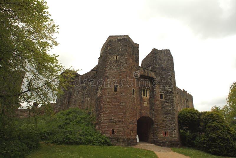 Berry Pomeroy Castle, Devon, Regno Unito fotografia stock libera da diritti