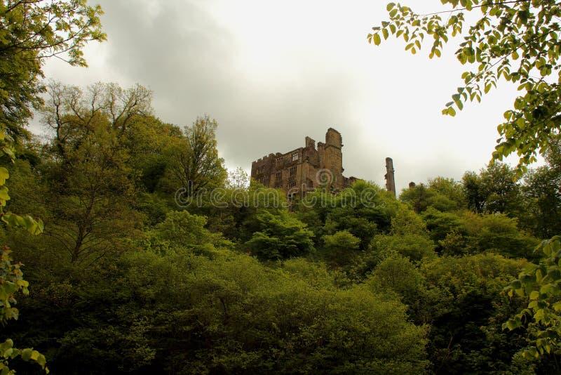 Berry Pomeroy Castle, Devon, Reino Unido fotos de archivo