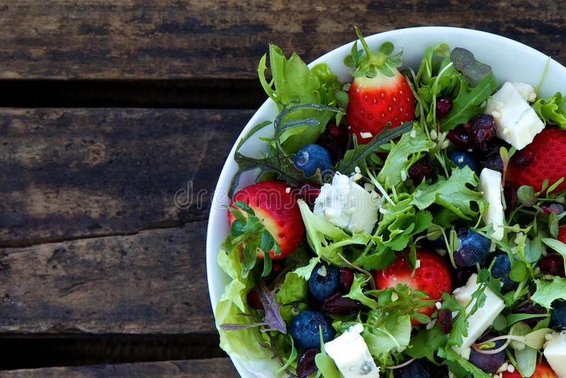 Download Berry salad stock photo. Image of gorgonzola, berries - 26584390