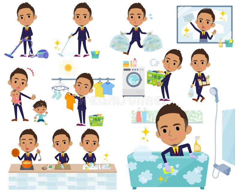 Berry Short hair businessman black_housekeeping stock illustration