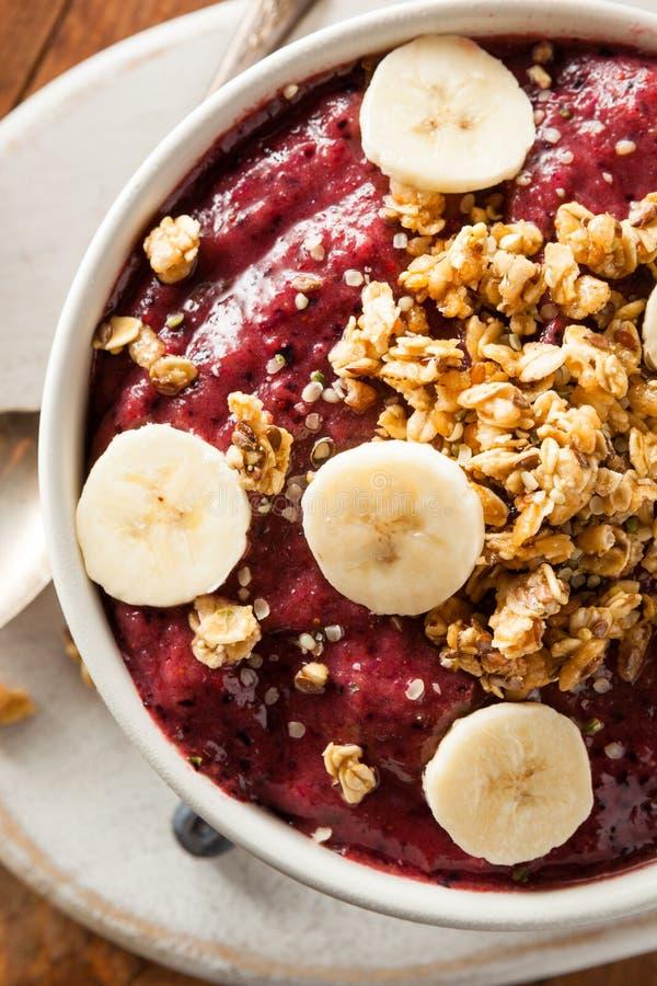 Berry Smoothie Bowl organico in buona salute immagine stock libera da diritti