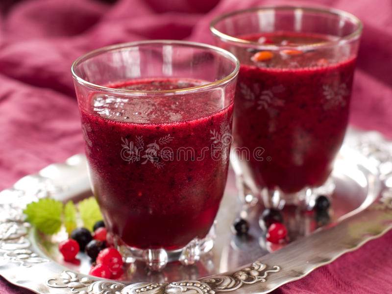 Berry smoothie royalty free stock photography
