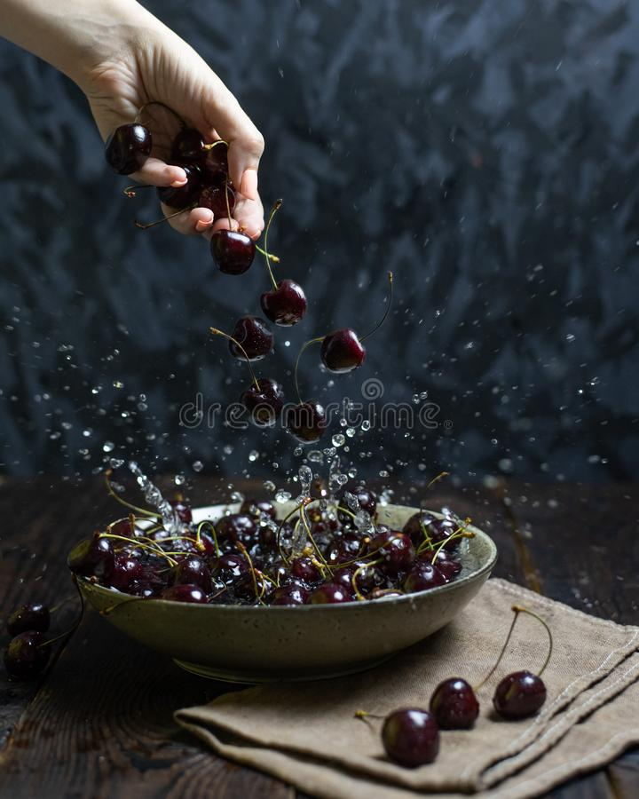 Still Life with Cherry Berry royalty free stock images