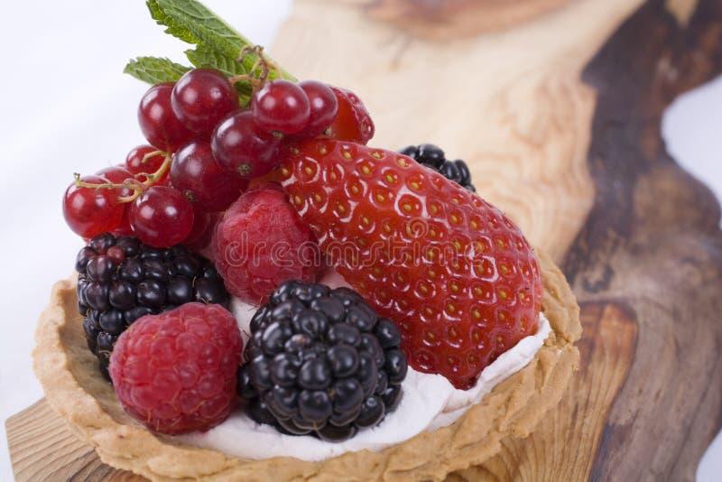 Berry Tart On Wood Royalty Free Stock Image