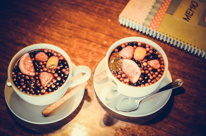 Berry tea royalty free stock image