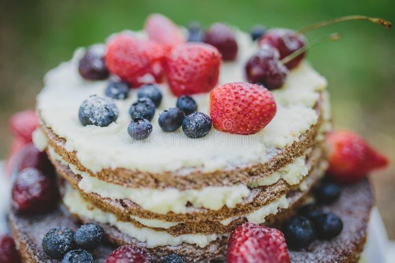 Berry Wedding Cake fotografia stock