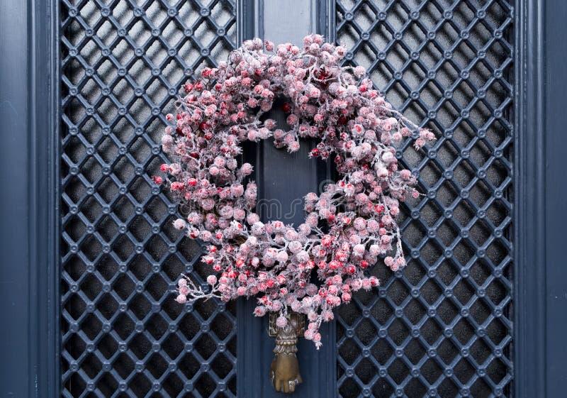 Berry Wreath vermelho imagem de stock
