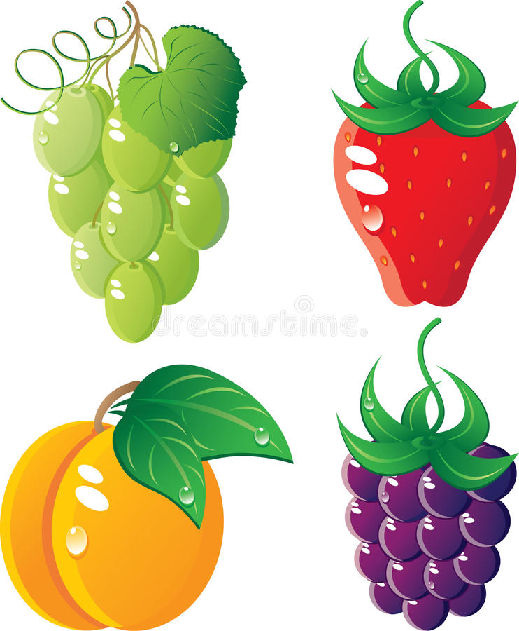 Download Berrys icon set stock vector. Image of strawberry, orange - 13664988
