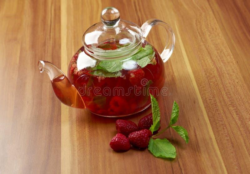 Berrytea - fragole fotografia stock