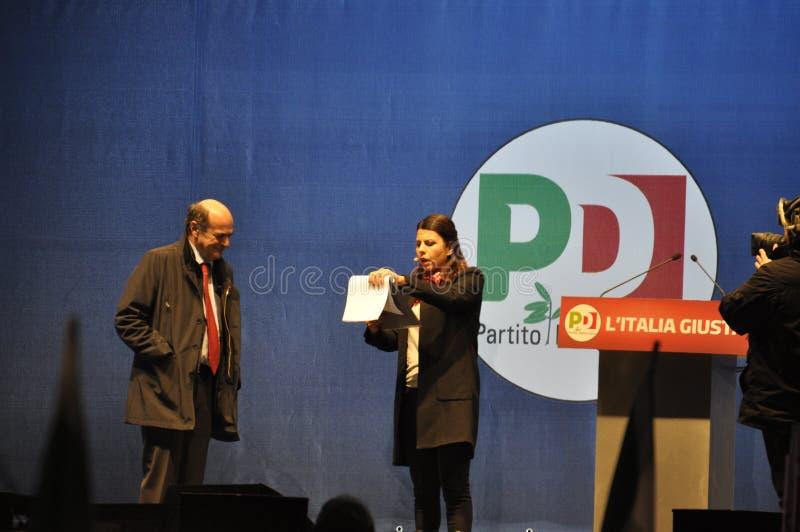 Bersani演讲 免版税库存照片