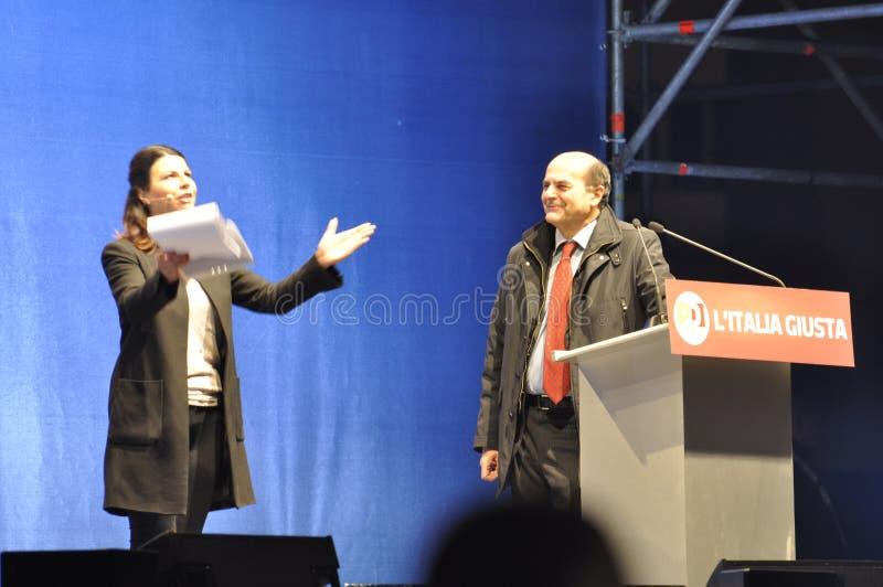 Bersani演讲 免版税库存图片