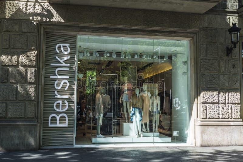 Bershka商店在巴塞罗那 免版税图库摄影