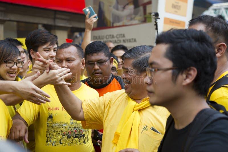 Bersih4 wiecu dzień 2, Malezja zdjęcia royalty free