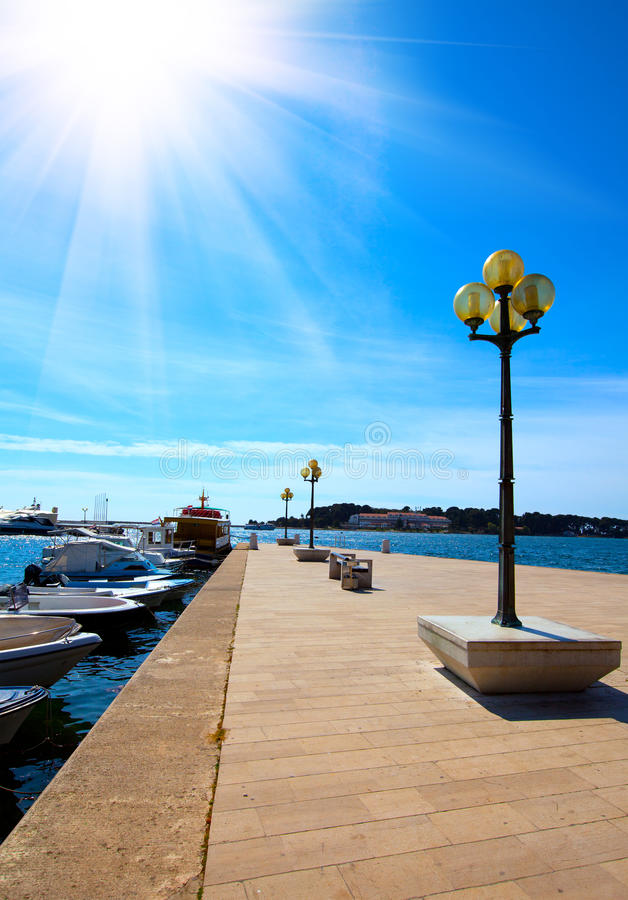 Download Berth With Street-lamp On Sea Royalty Free Stock Images - Image: 31748809