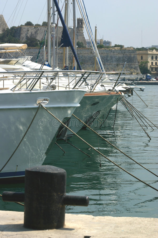 Berthed Yachts Stock Images