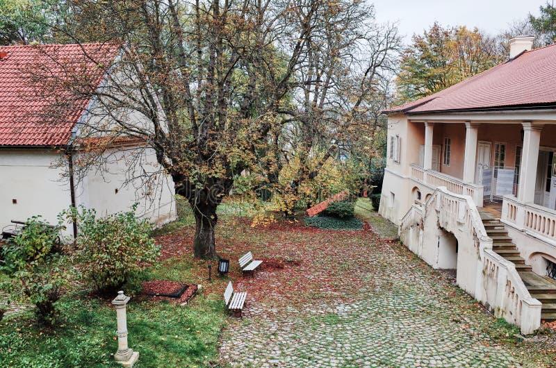 Bertramka De elegante villa, waar Wolfgang Amadeus Mozart om gebruikte te blijven, is omgezet in een museum gewijd aan hem stock fotografie