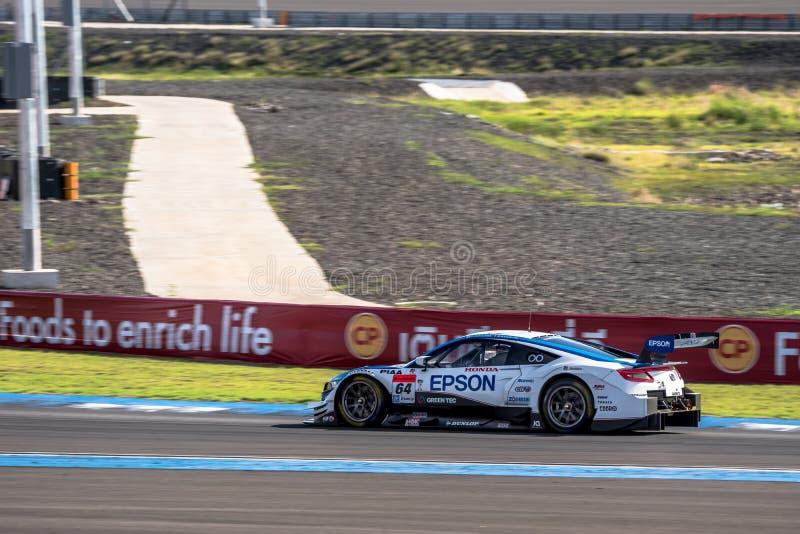 Bertrand Baguette die van NAKAJIMA in GT500 Qualiflying Catego RENNEN stock foto's