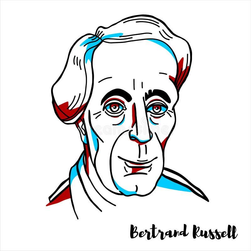 Bertrand Russell Portrait libre illustration
