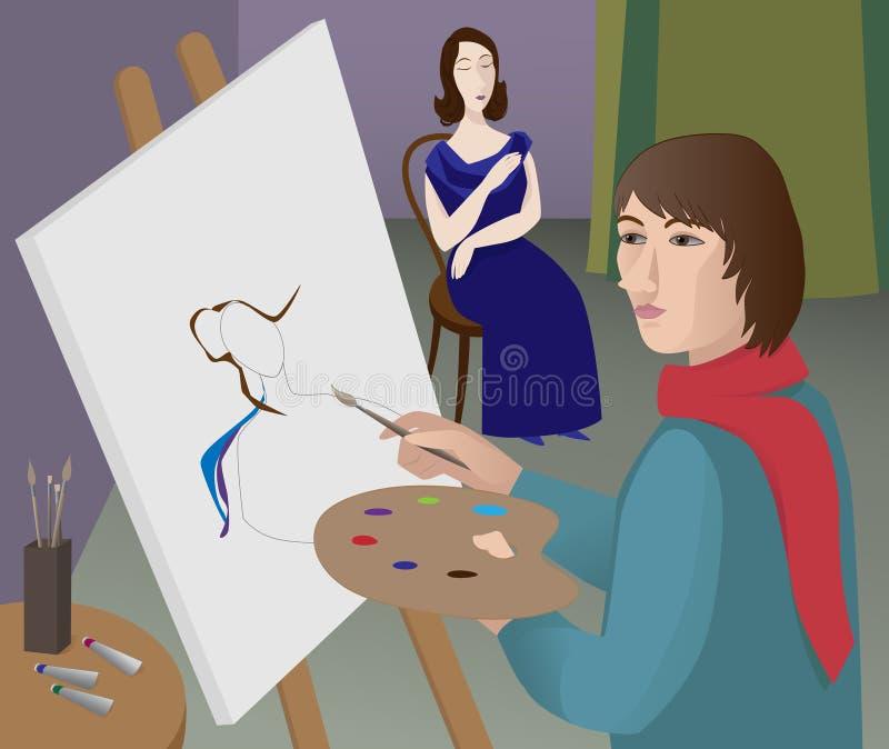 Beruf ?Künstler? stock abbildung