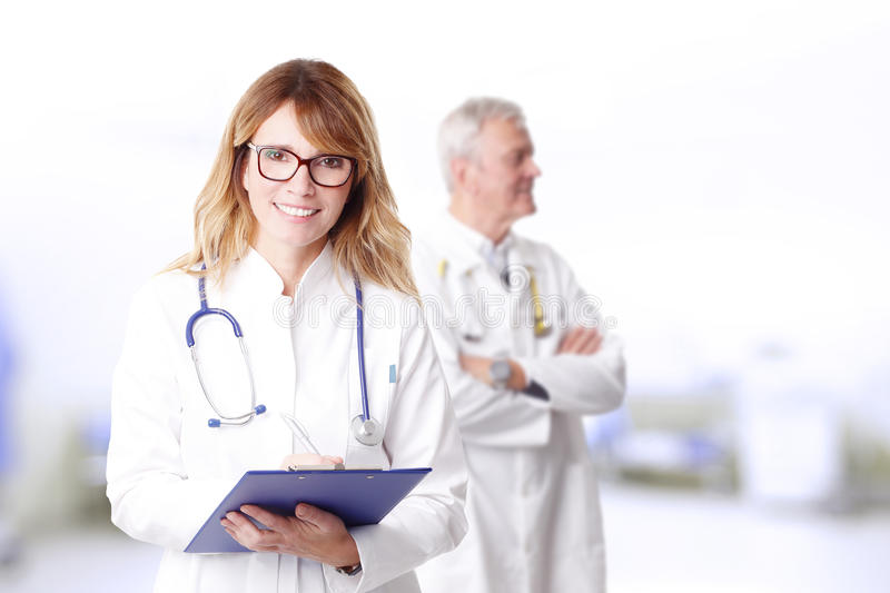 Berufsärzteteam stockbild