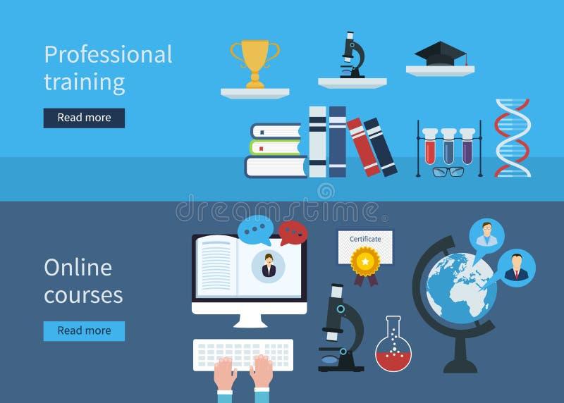 Berufsausbildung und on-line-Kurse lizenzfreie abbildung