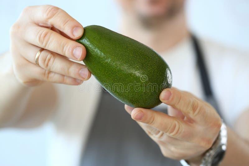 Berufschef-Holding Ripe Tropical-Avocado stockfotografie