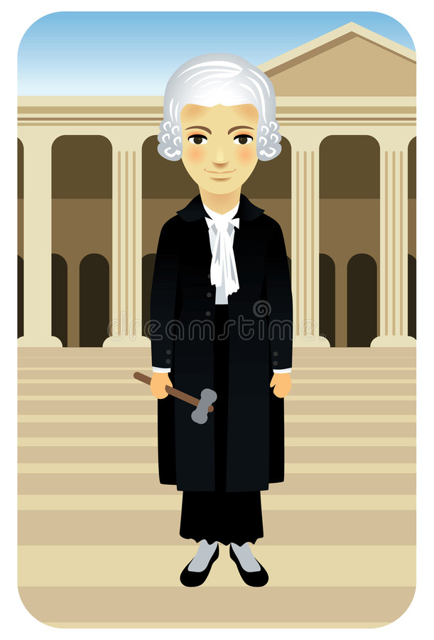Berufserie: Dame Justice vektor abbildung