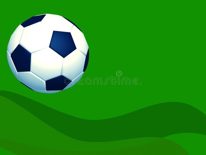 Berufsfußballfußballplan lizenzfreie abbildung
