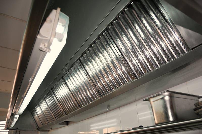 Berufsküche, Abgasanlagen lizenzfreies stockbild