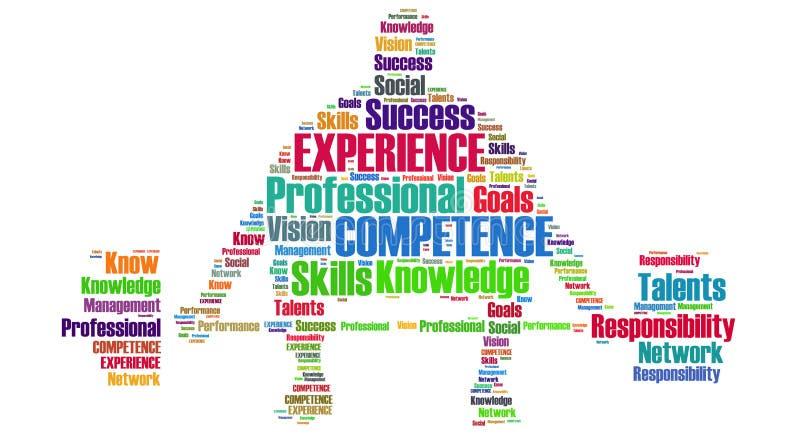 Berufskompetenz und Erfahrung vektor abbildung
